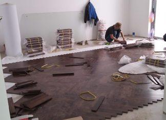 sàn gỗ Wulnut lót kiểu xương cá